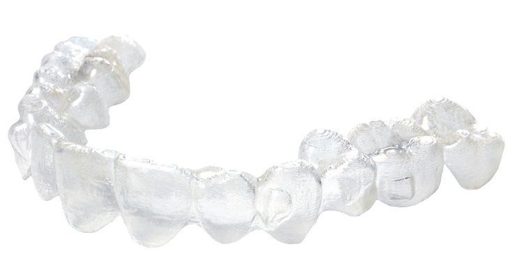 Clear teeth alignment molding.